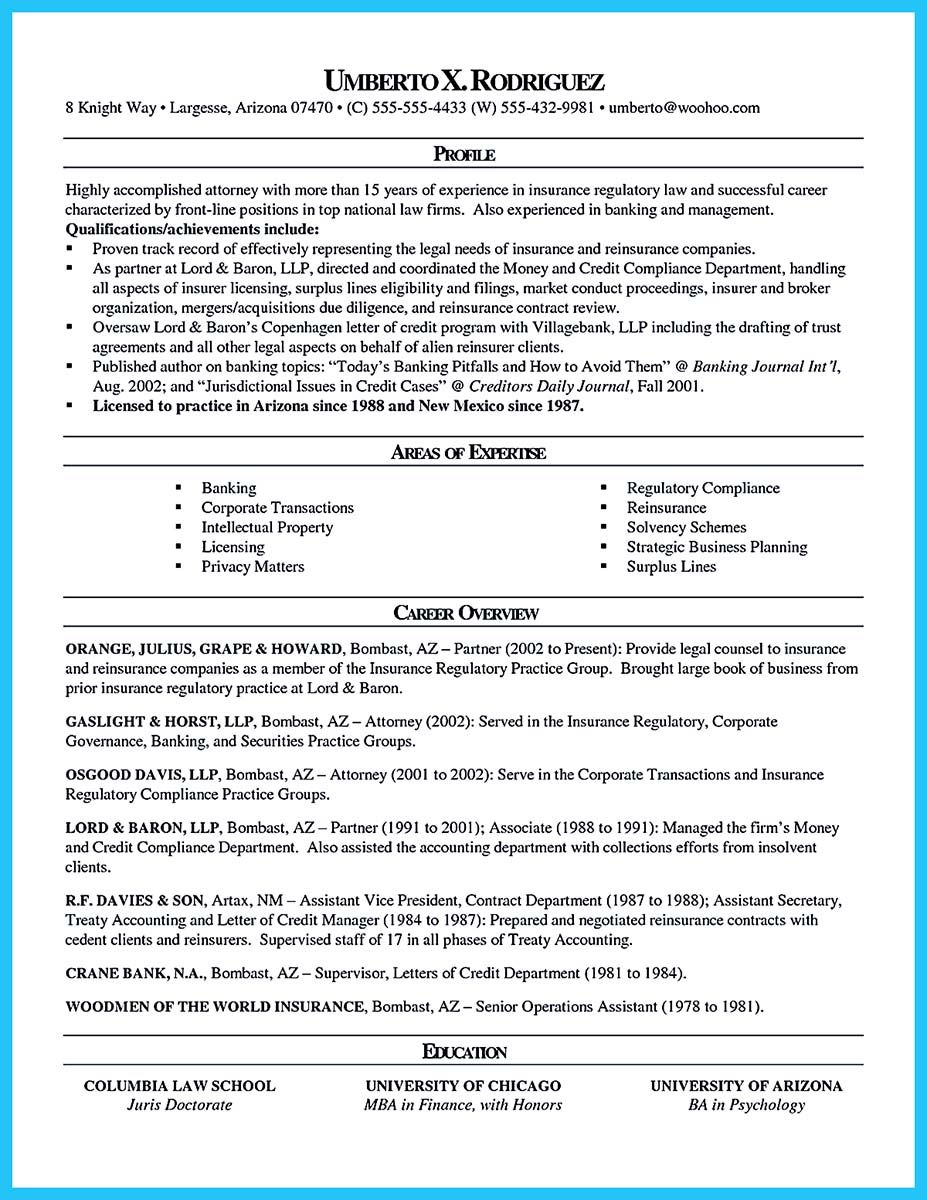 as you are confused on how to arrange an attorney resume