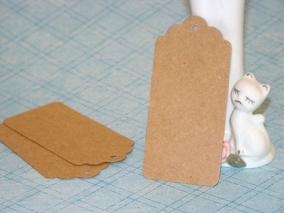 20 Large KRAFT Tags Rustic Natural Party Favors by PaperElf, $3.95