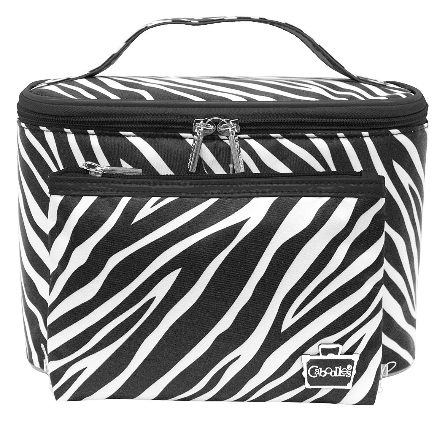 Caboodles Sweet And Sassy Large Tapered Tote, Zebra, 129 Pound