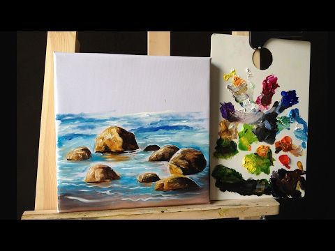 How to Paint Roses in Acrylics with Palette Knife lesson 4 - YouTube