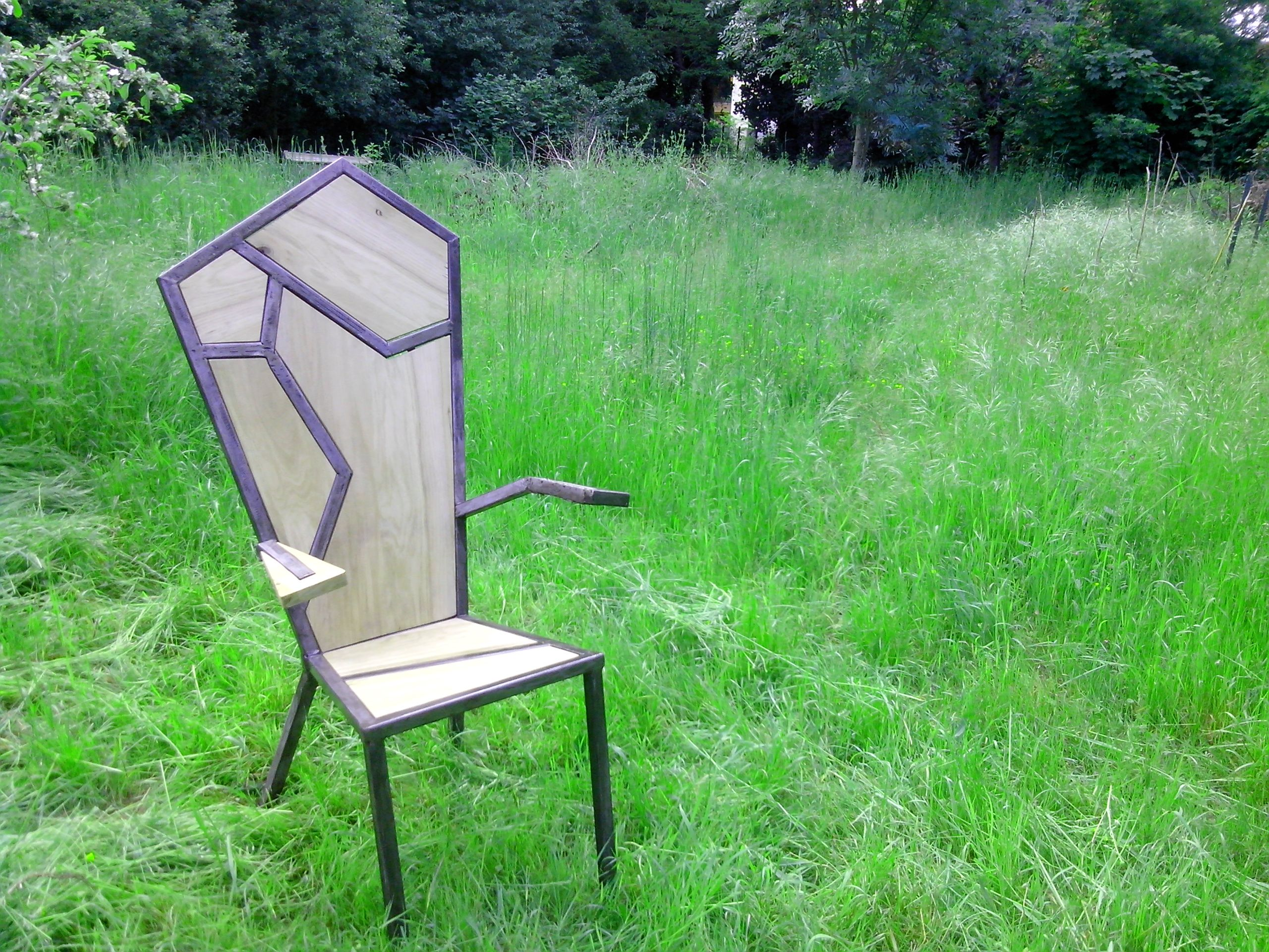 industrial metal chair welding project Projets perso