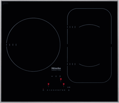 Miele Km6320 24 Inch Framed Induction Cooktop With 3 Cooking Zones Twin Booster Function Powerflex Technology Con Ctivity 2 0 Cooktop Hood Communication And Induction Cooktop Cooktop Hood Induction