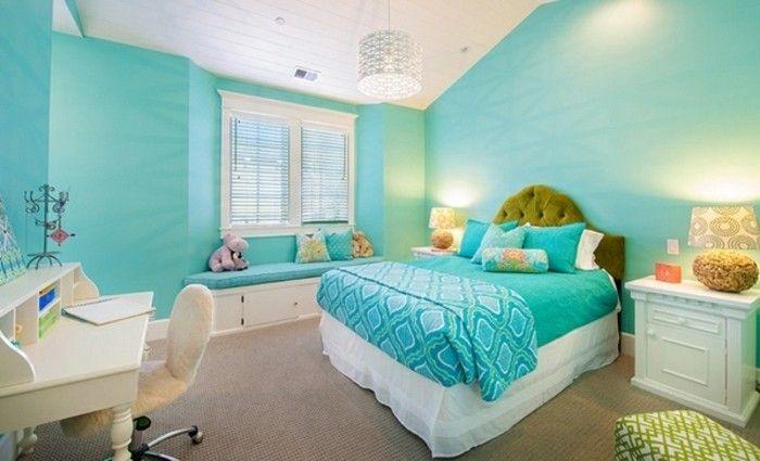 ▷ 1001+ designs stupéfiants pour une chambre turquoise   Chambre a ...