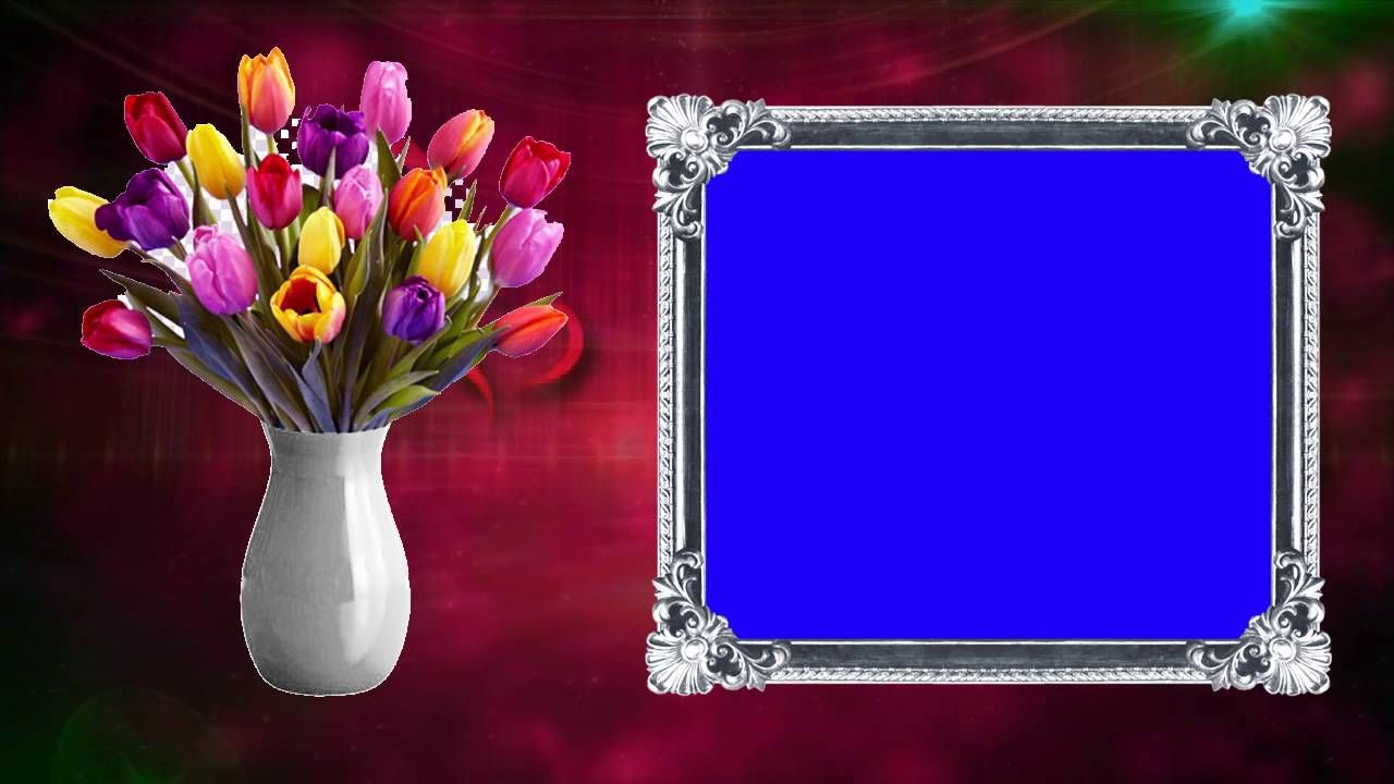 Wedding Motion Blue Frame Background Video HD