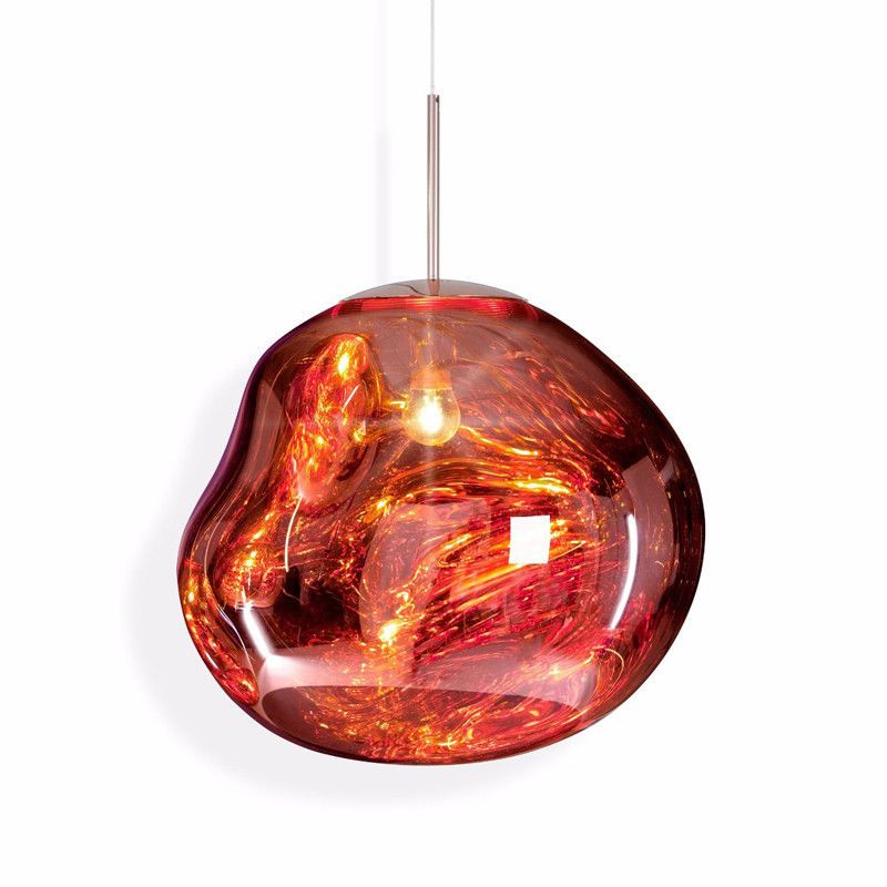 Aliexpress Com Buy Post Modern Tom Dixon Style Melt Pendant Lights Irregular Mirror Hanging Lam Copper Pendant Lights Metal Pendant Light Mini Pendant Lights