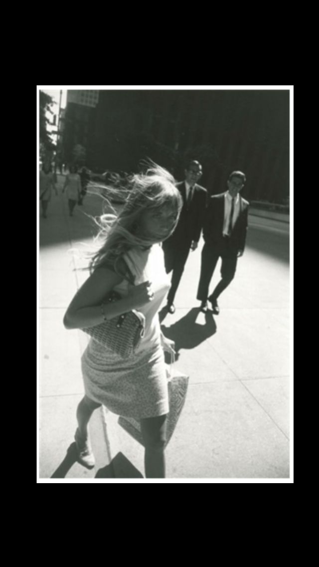 """Garry Winogrand - """" New York, blonde woman with wind-blown hair, from Women are Beautiful """" , 1965 - Silver print - 35,6 x 27,9 cm"""