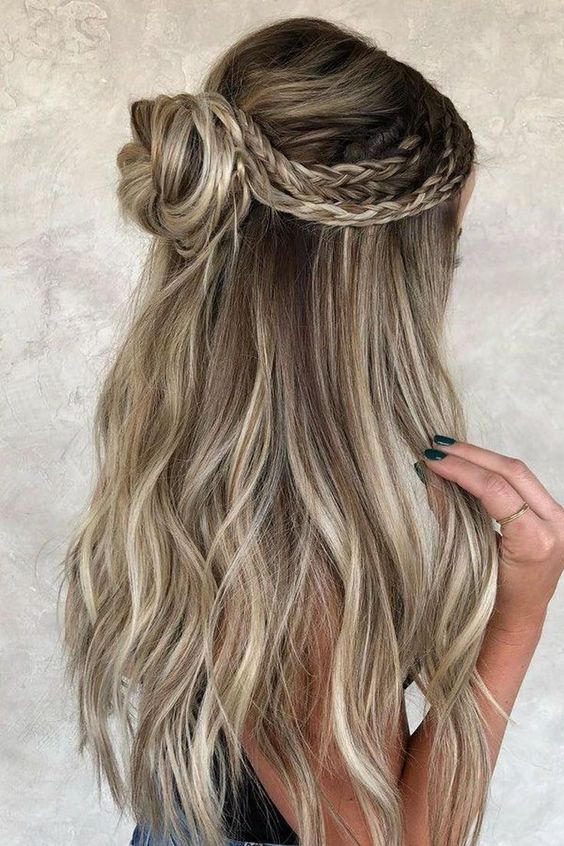 10 Eye Catching Winter Formal Hairstyles To Try In This Winter Bun Hairstyles For Long Hair Cute Braided Hairstyles Prom Hairstyles For Long Hair