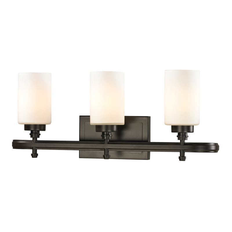 Elk lighting 11672 3 dawson 3 light 23 vanity fixture with frosted glass shade