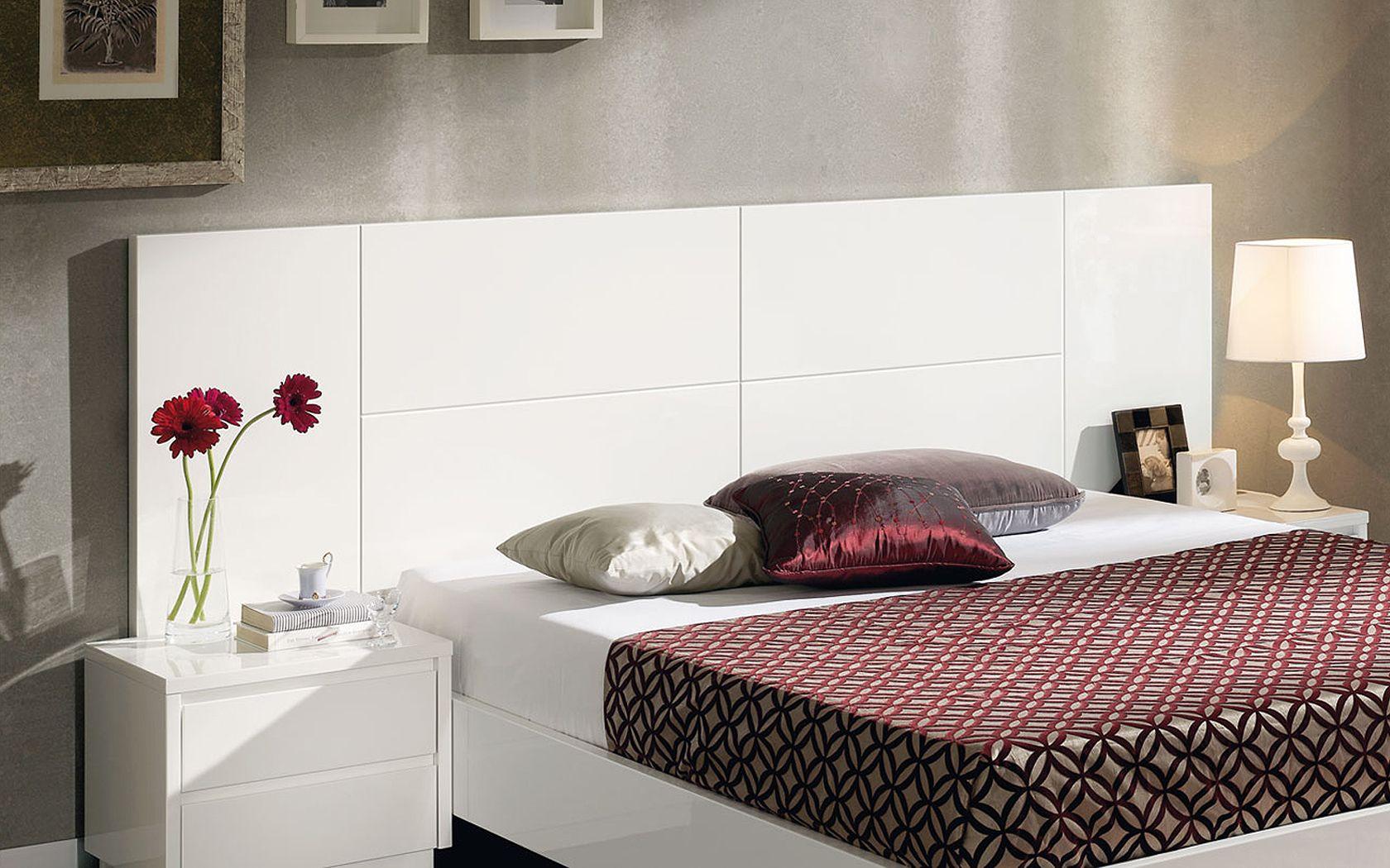 Cabeceros de cama de matrimonio moderno blanco logela - Cabeceros de cama blancos ...