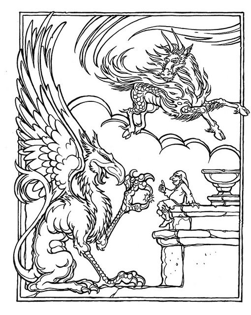 Colouring Pages D Dragon Coloring Page Advanced Dungeons