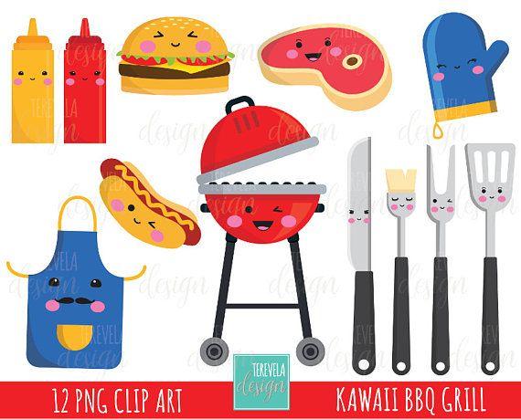50 sale grill clipart bbq clipart kawaii clipart commercial use rh pinterest com