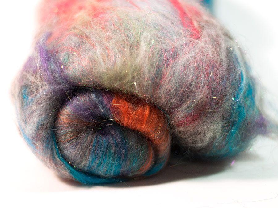 Space Dust Superwash Sock Batt (3.9 oz) by Happy Seamstress