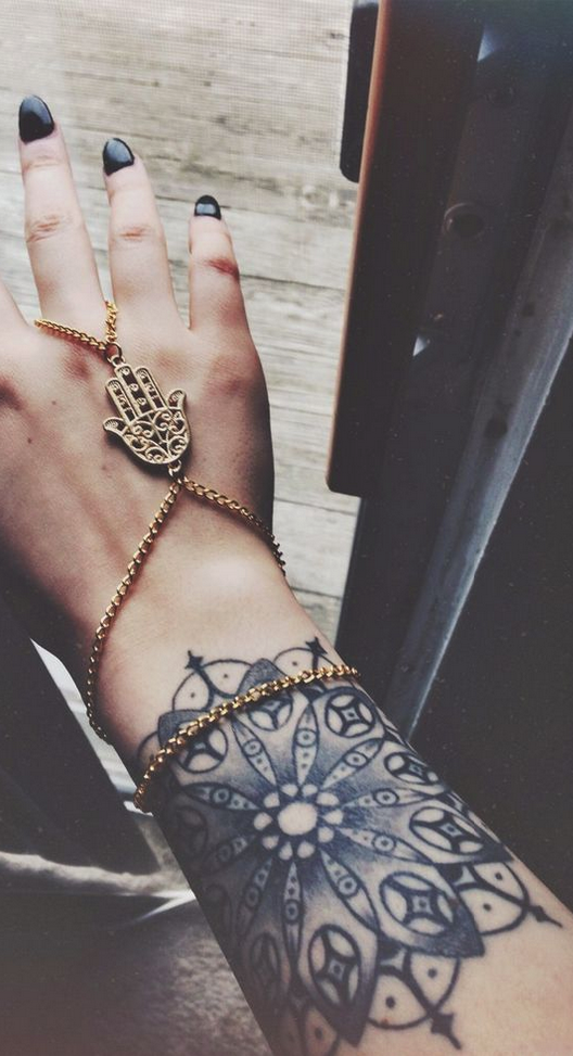 boho style tattoo