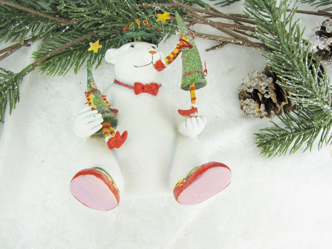 Polar Bear Christmas Ornament Scandinavian Design Tree Etsy Christmas Ornaments Vintage Christmas Tree Toppers Christmas Tree Decorations