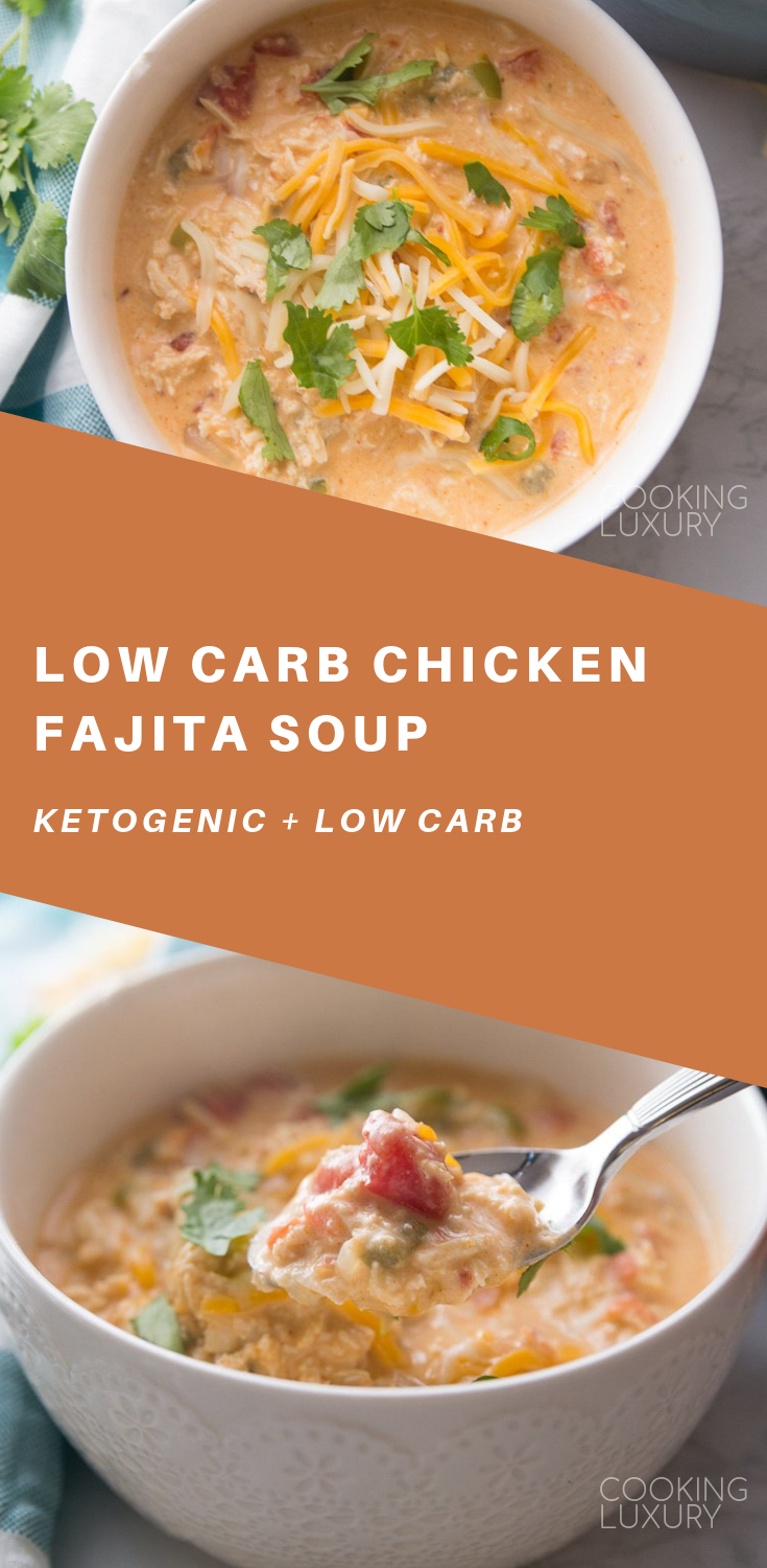 Low Carb Chicken Fajita Soup (Keto Friendly)