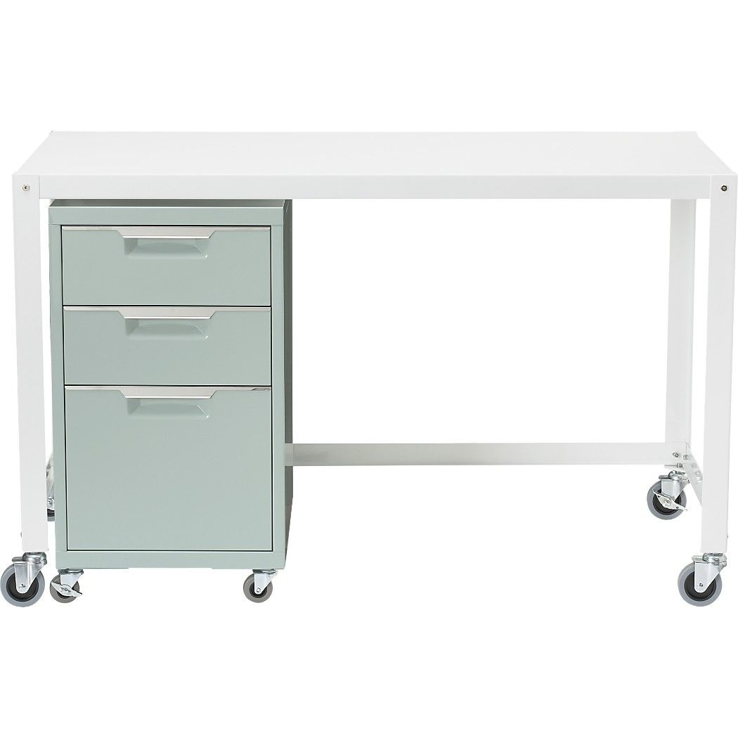 office desk ideas nifty. Shop Go-cart White Rolling Desk. Nifty Metal Office Worker Rolls Into Place On Desk Ideas T