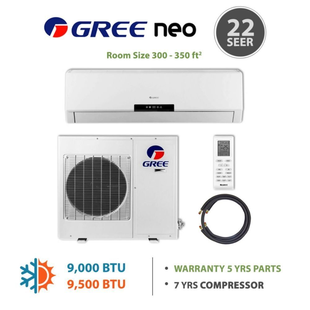 Amazon com: GREE Neo 9,000 BTU Mini Split AC 115V w/Inverter
