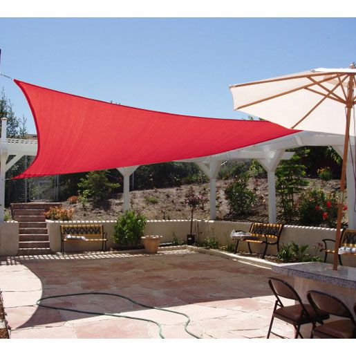Quictent 10 X 15 Woven Rectangle Shade Sail Red