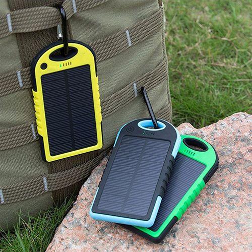 5000 mAh Dual USB Caricabatterie Solare Portatile Universale Pioggia resistente Banca di Potere