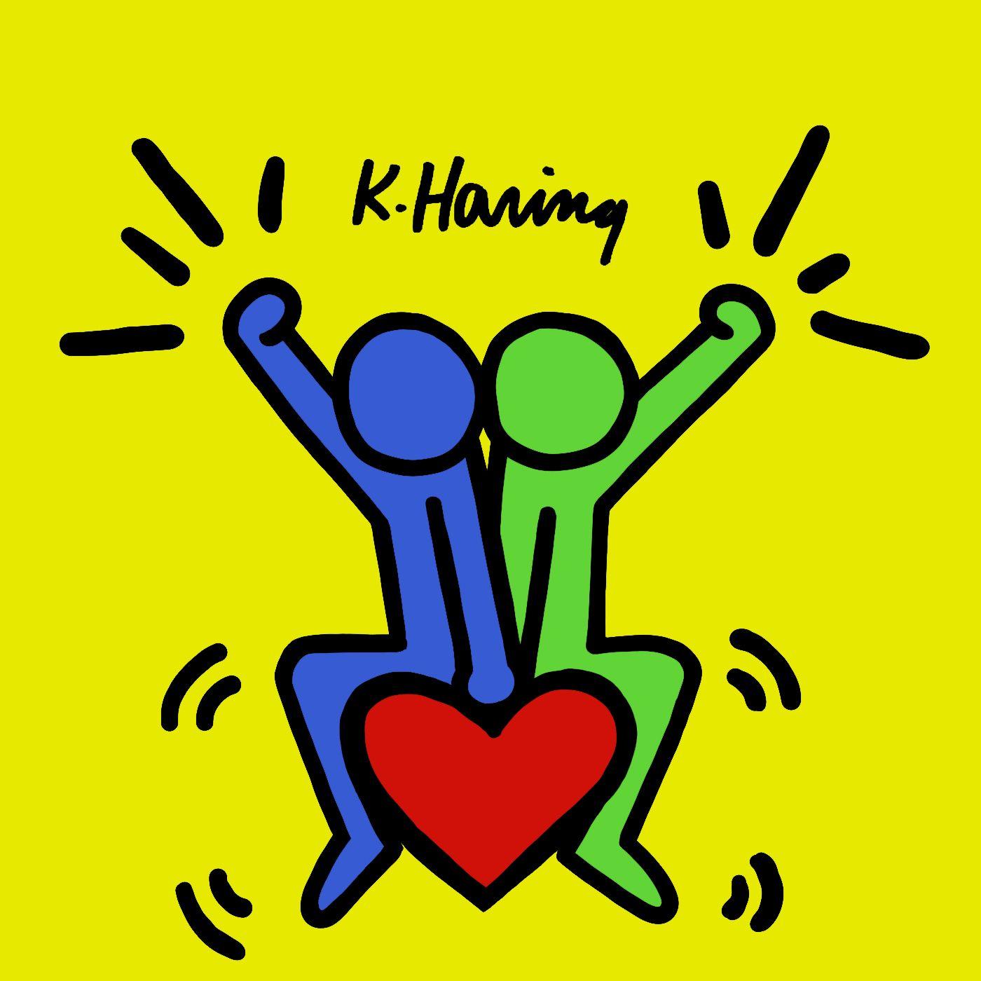 Keith Haring 子供向けアート ミッキーマウスの壁紙 アートポップ
