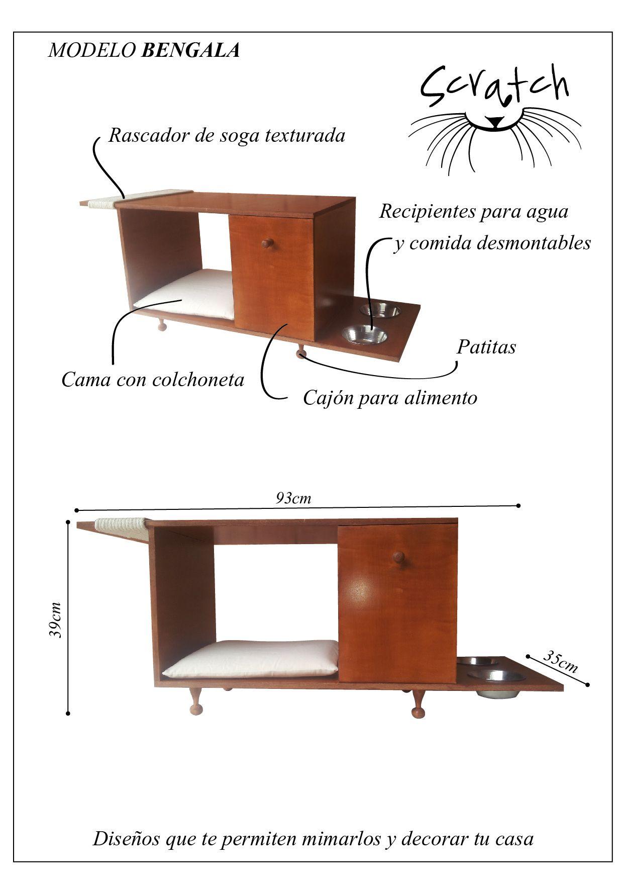 Mueble Para Gatos Modelo Bengala Todo En Uno Dise O Para  # Muebles Todo En Uno