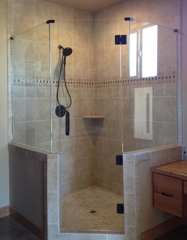 Probably makes the shower too much of a feature vs. tub in front of ...
