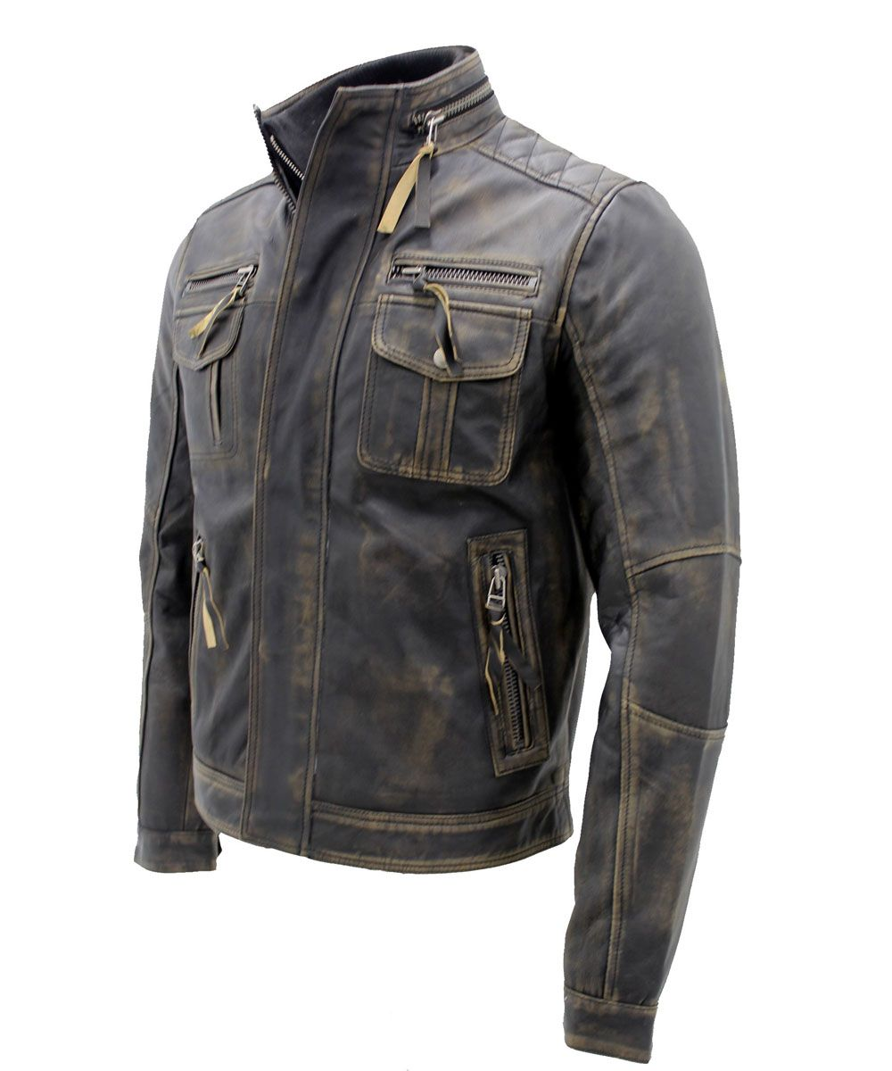 huge selection of On Clearance exceptional range of colors Vintage Black Warm Leather Jacket   Fashion Trends ( Men's ...