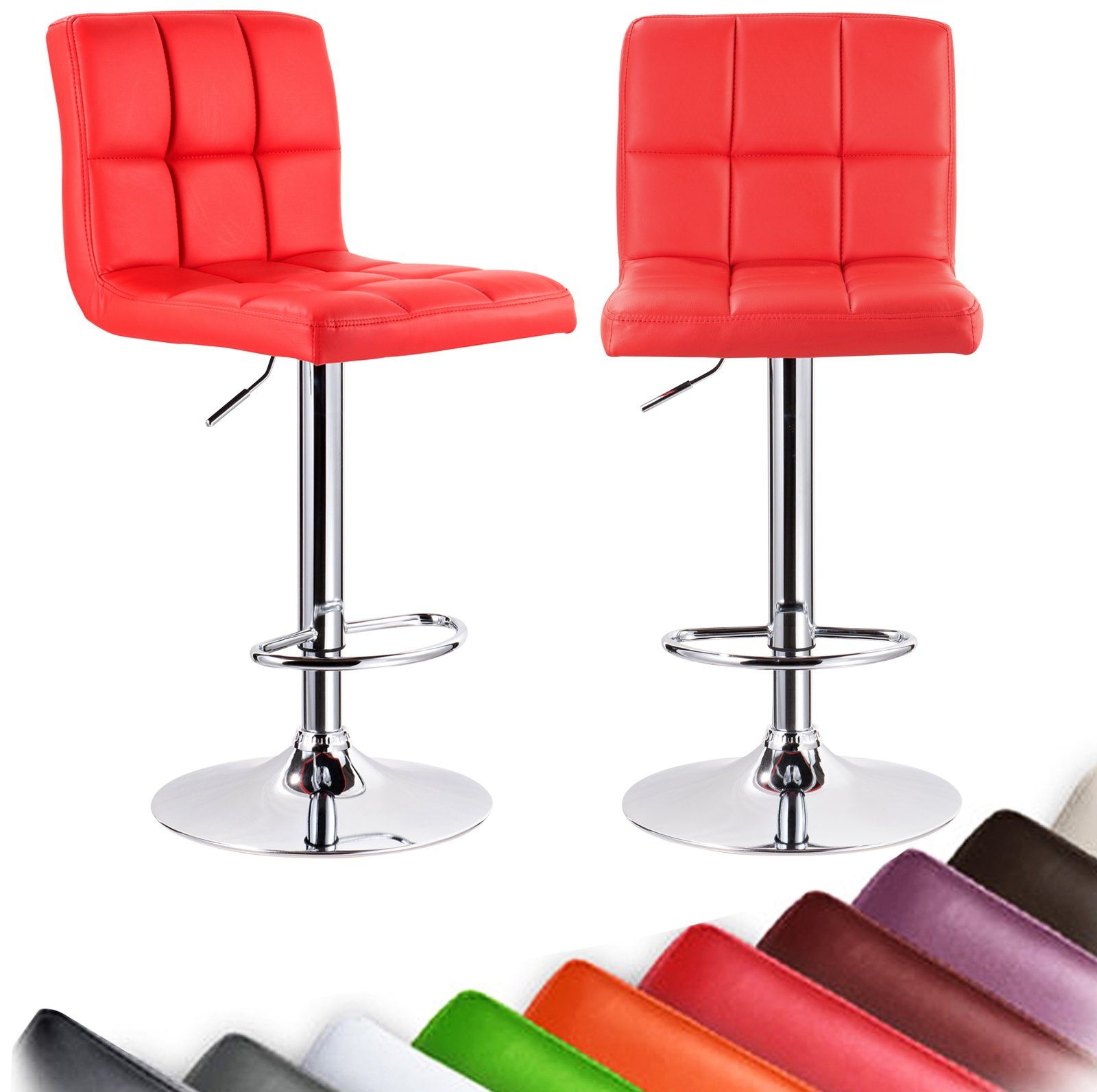woltu absx1001reda furniture bar stool swivel red bonded