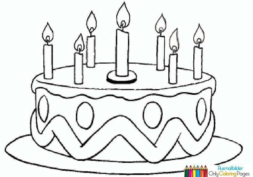 Torte zum Geburtstag Bild zum Ausmalen | ausmalbilder | Pinterest ...