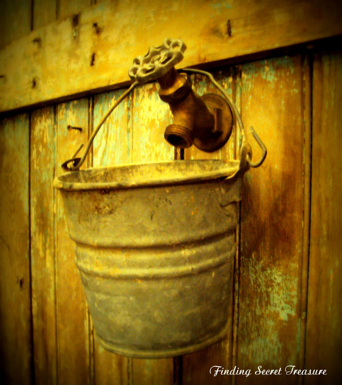 Old Vintage Cast-Brass Industrial Outdoor Water Spigot, Garden ...