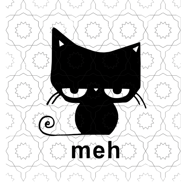Cat Meh Sg Cat Svg Meh Svg Png Dxf Eps File For Cricut Silhouette In 2020 Cricut Svg Cricut Craft Room