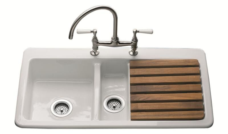 Oakwood 1 5 Bowl Sink Right Hand Drainer 2 Tap Holes