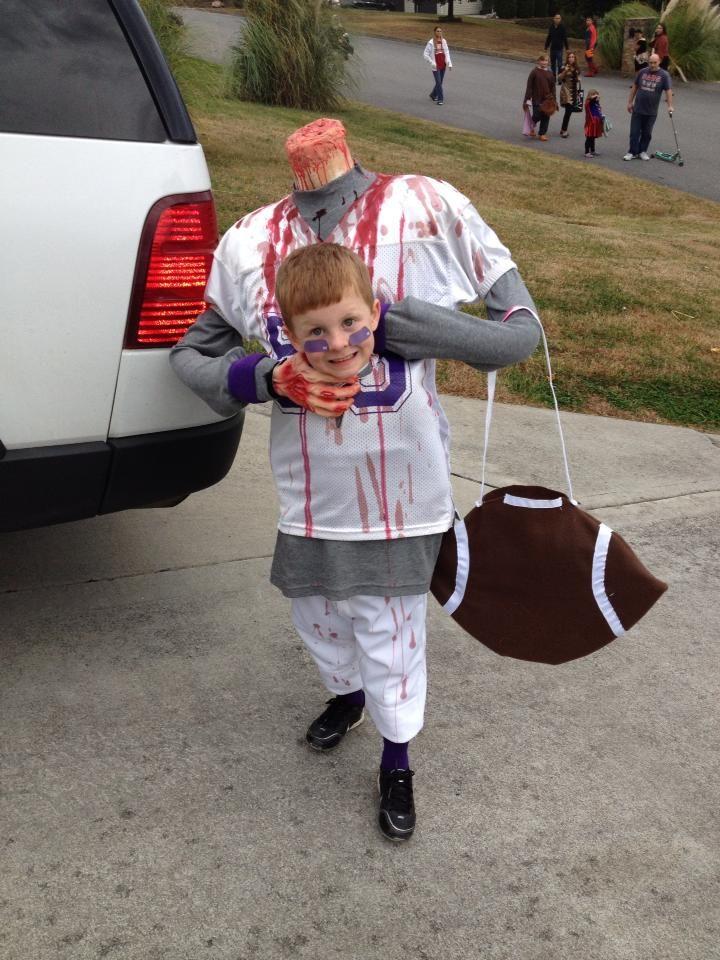 Ryan S Headless Football Player Homemade Halloween Costume