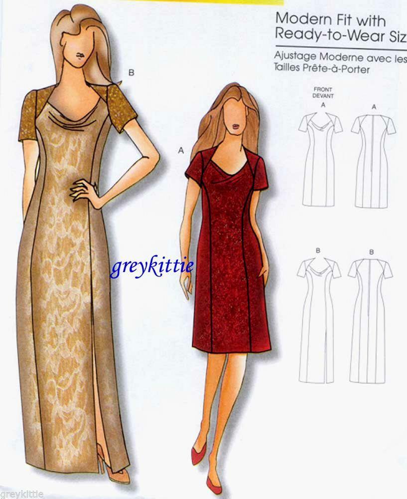 New Sewing Pattern Butterick 5430 Sz Xxl 6x Dress In 2 Lengths