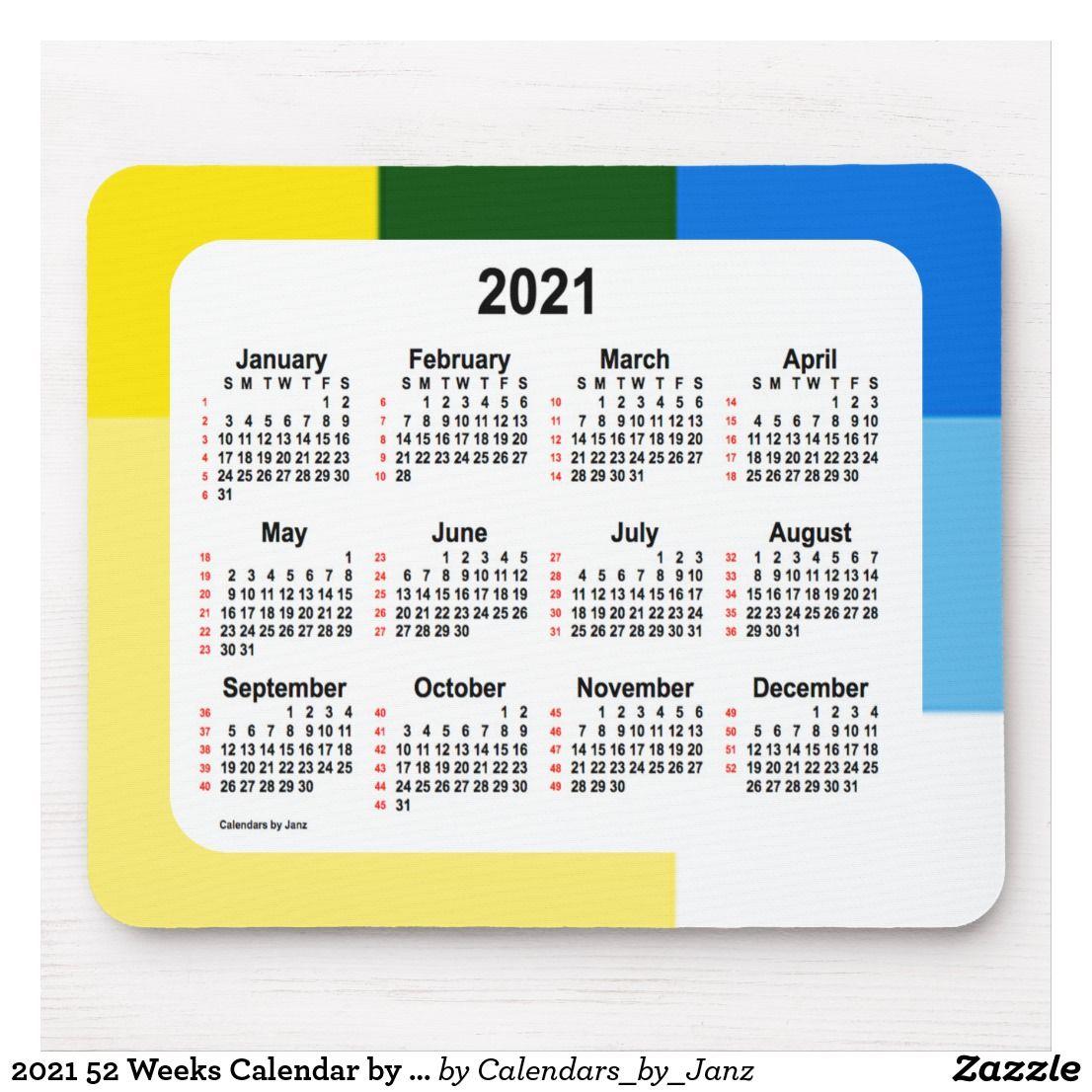 Pictures of 2021 52 Week Calendar