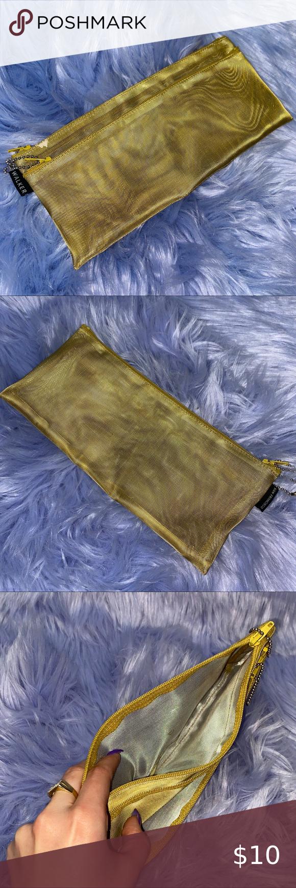 Walker Mustard Yellow Grid Net Cosmetic Bag in 2020