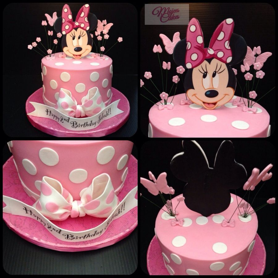Minnie mouse birthday cake with butterflies Birthday Pinterest
