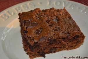 Chocolate No-Frost Oatmeal Cake