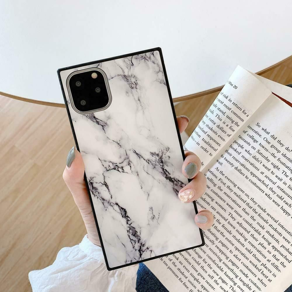 Square Marble Case For Iphone 11 Pro Max Black White 11 Max Yonmeet Iphone Cases White Iphone Case Case