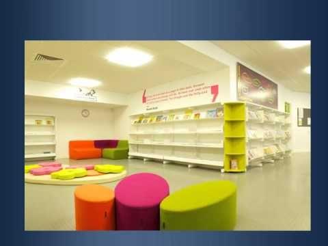 Children\'s Library Furniture & Interior Design by BCI.mp4 | School ...
