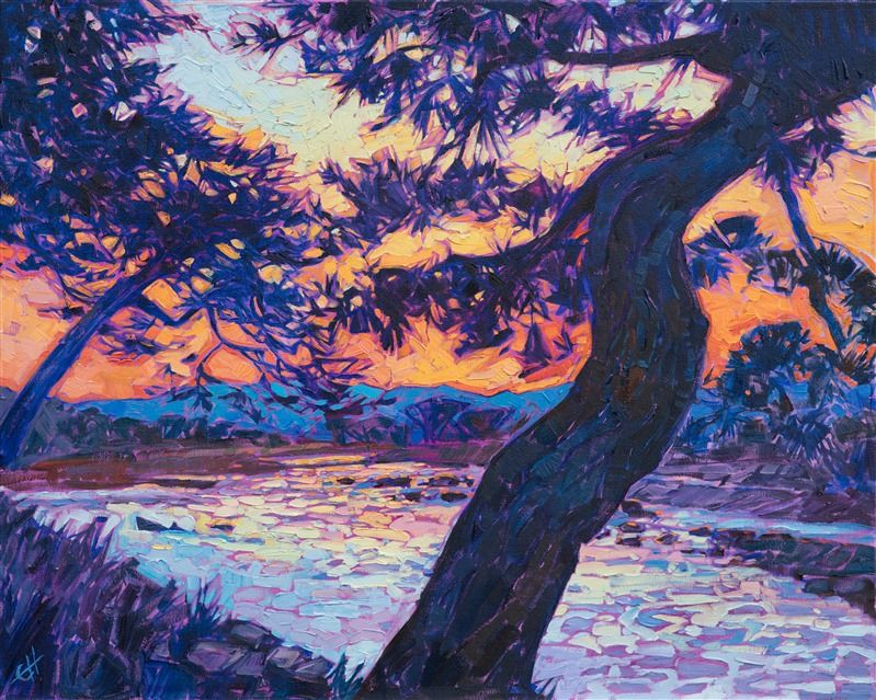 Kyoto Japan Oil Painting By Modern Landscape Oil Painter Erin Hanson Oil Painting Landscape Landscape Art Oil Painting Techniques