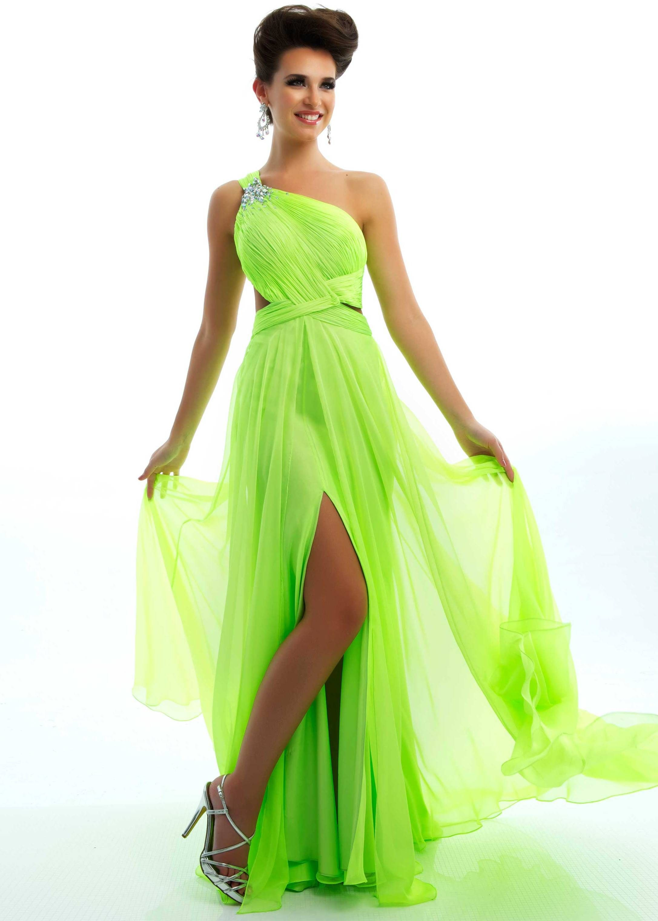 Its all about neon for prom 2013 flash by mac duggal 6294l mac duggal prom 2013 one shoulder neon lime gown unique vintage prom dresses retro dresses retro swimsuits ombrellifo Choice Image