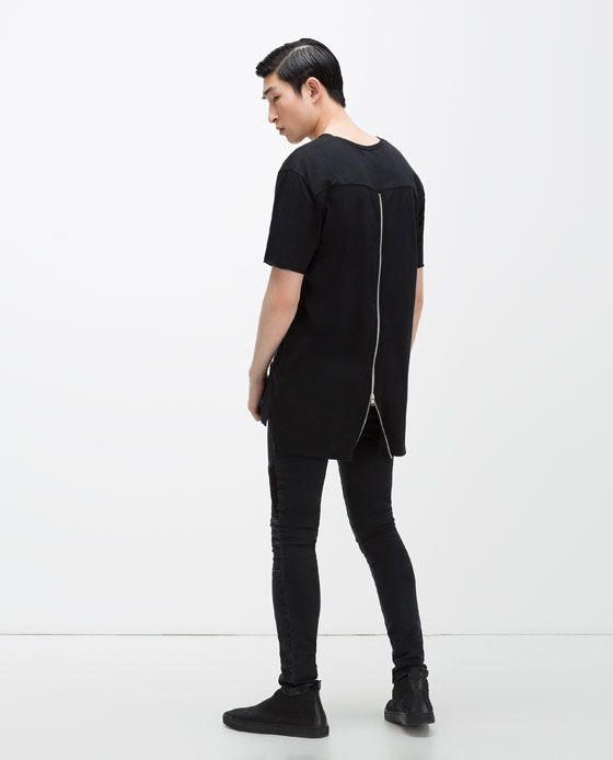 ZARA MAN Zips t shirt | camisetas molonas | Camisetas