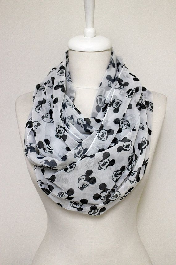 Walt Disney Mickey Mouse pattern print unique Infinity scarf Scarves ...
