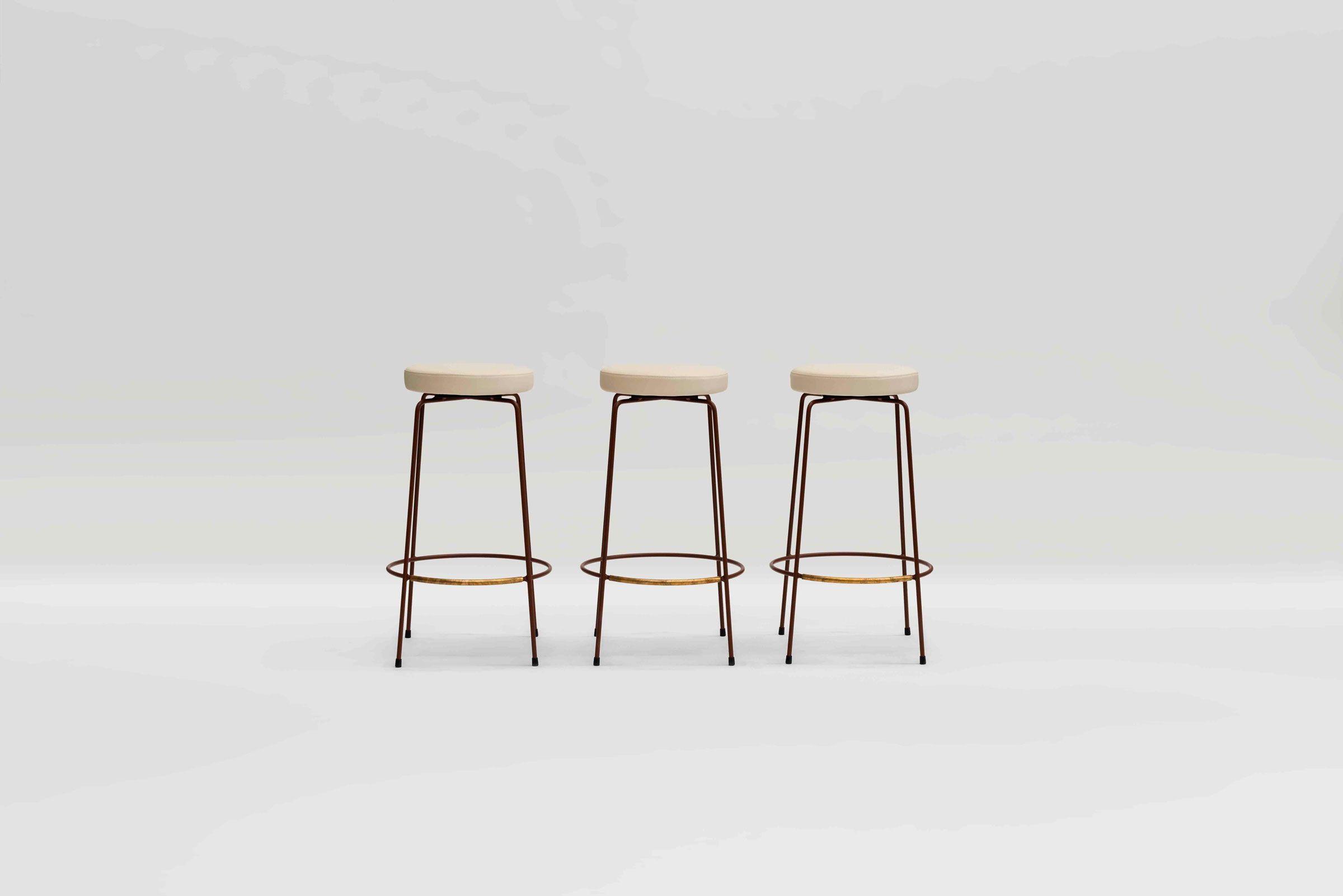 The Iva Stool Gestalt New York Bar Stools Stool Upholstered Stool