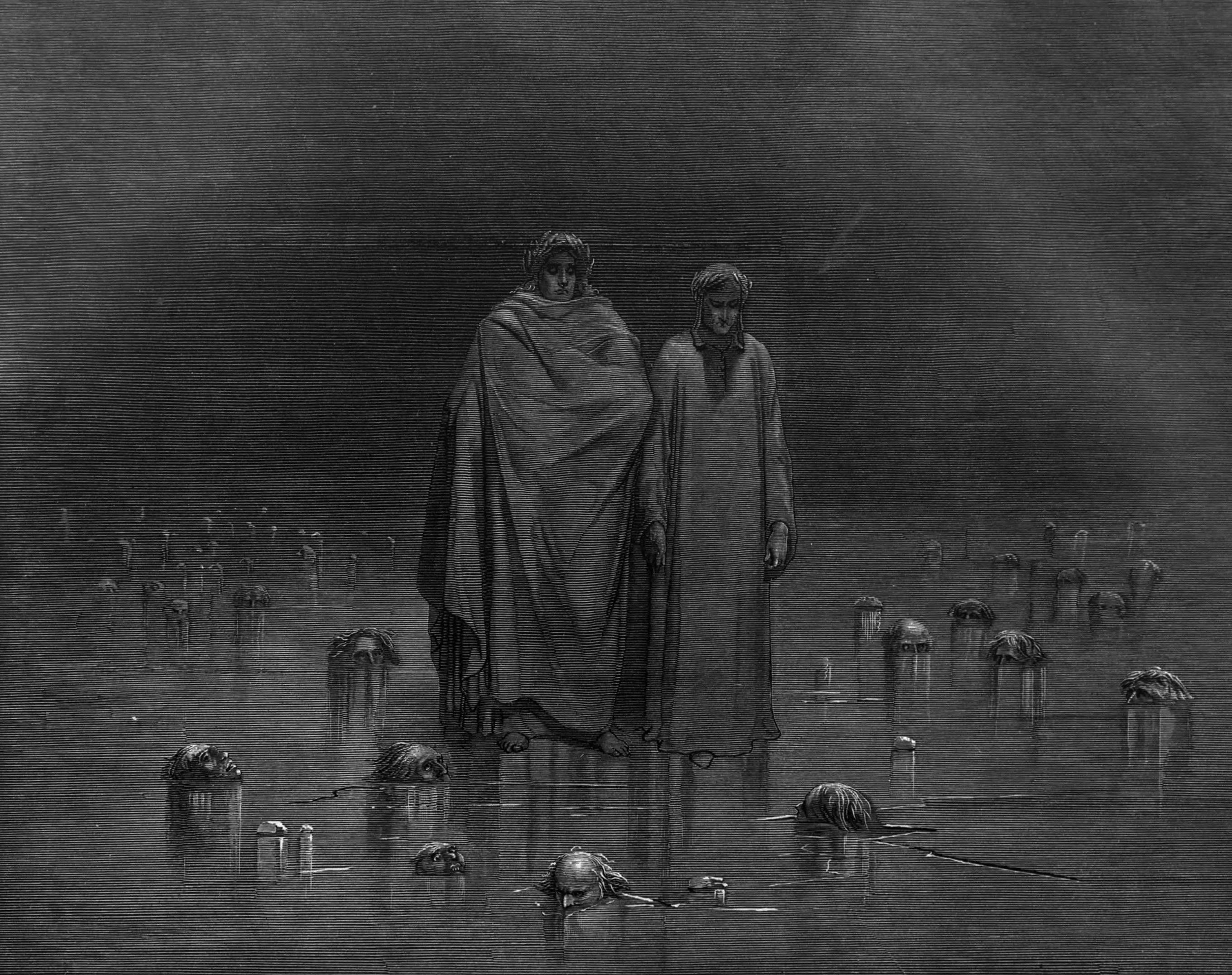 """Source for the cover art of The Sisters of Mercy's """"Body and Soul"""" EP, from Dante's Inferno, by Gustave Dore"""