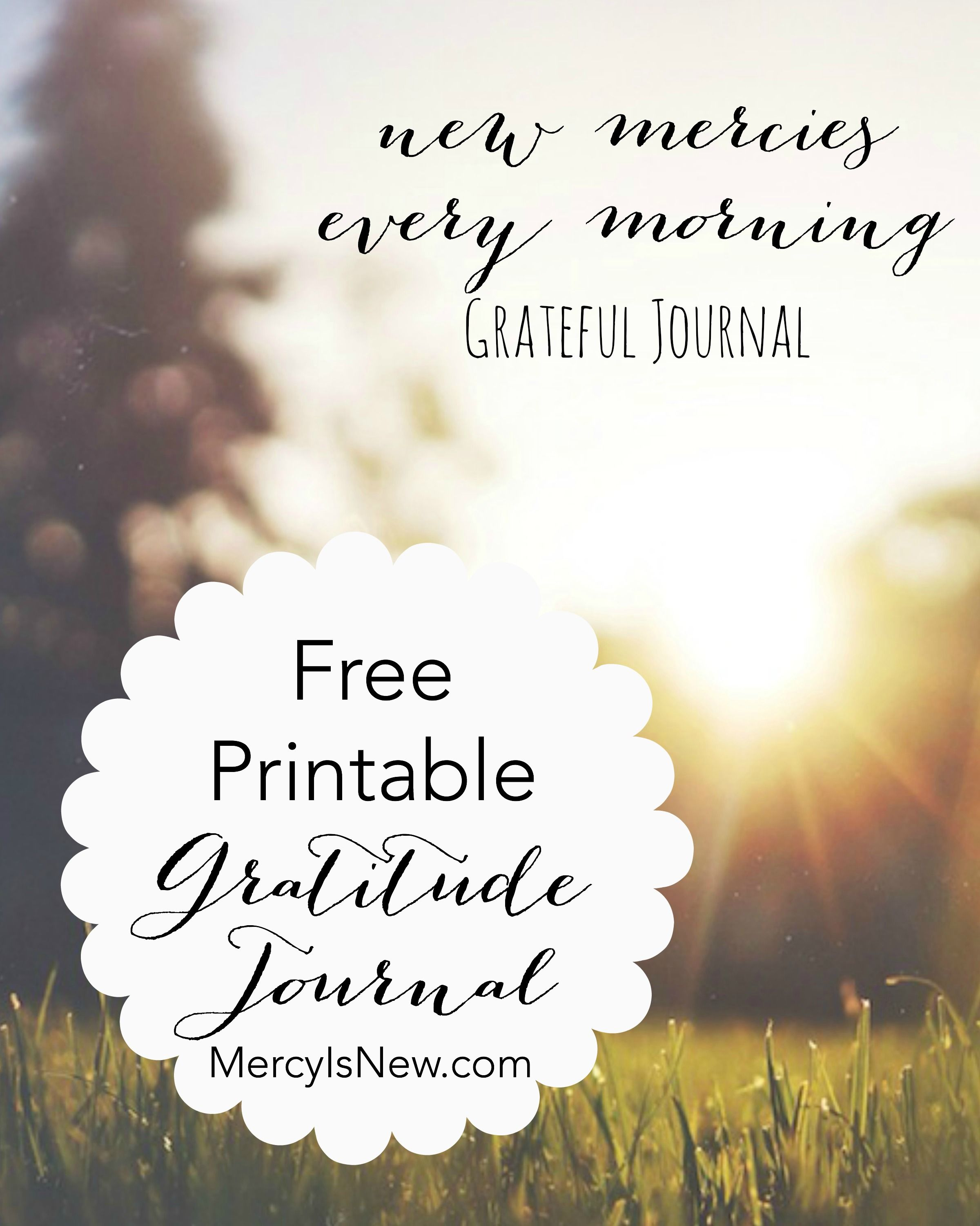 Free Printable Gratitude Journal For You Count Your
