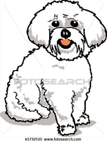 Maltese Dog Clipart Dog Clip Art Cartoon Dog Drawing Dog Pop Art