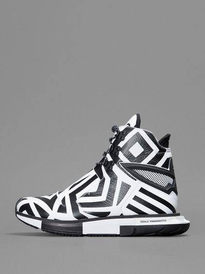 Blazing the same graphic path as its adidas Yohji Boost counterpart, the  Yohji Hayex High rocks a similar white and black composition with a  eccentric ...
