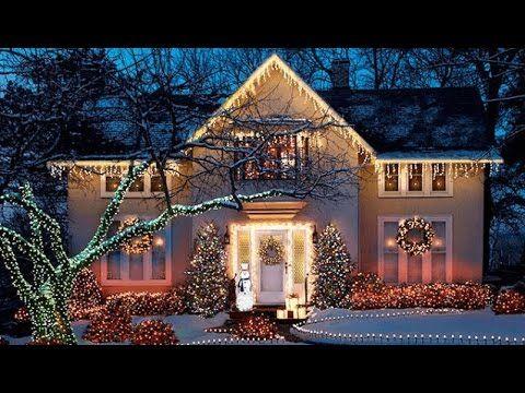 Fachadas De Casas Con Luces De Navidad Youtube Luces De Navidad Exteriores Luces De Navidad Y Luces Navidad Decoracion